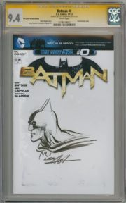 Batman #0 Blank Variant CGC 9.4 Signature Series Signed Neal Adams Sketch OA DC comic book